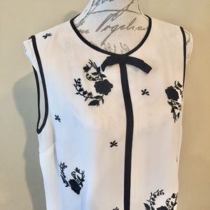 Ted Baker Bow Flower Design Flowy Tank Top size M